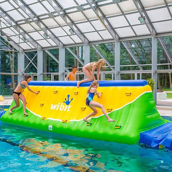 Inflatable Pool Play Feature. Run, dive and climb across.