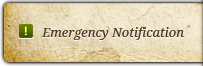 Emergency Notification - Off